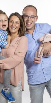 Familie in Studio